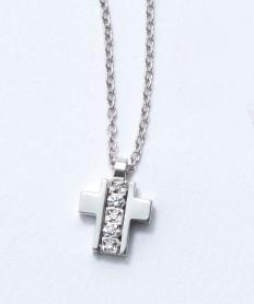 ミニ シンボリ ホワイトゴールド ダイヤモンド ネックレス