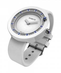 ベル エポック ホワイトセラミック サテン ダイヤモンド サファイア 時計